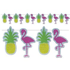 "Flamingo+&+Pineapple+Streamer+9""+x+12'"