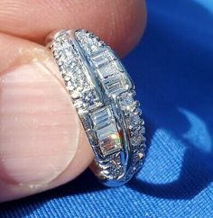 Antique diamond setting band art deco handcrafted in is excellent anniversary band. Any such claim or cause of action must be filed in the Commonwealth of Florida. Baguette Diamond Wedding Band, Platinum Diamond Wedding Band, Vintage Diamond Wedding Bands, Antique Diamond Rings, Wedding Rings Vintage, Wedding Ring Bands, Wedding Anniversary Rings, Diamond Anniversary, Commonwealth