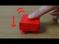 """動く折り紙「押したらヤバそうなボタン」作り方 Moving Origami """"Dangerous Button"""" - YouTube"""
