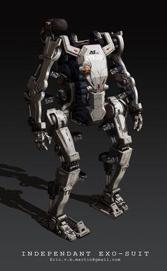 Exo-Suit Robot, Eric Martin on ArtStation at https://www.artstation.com/artwork/exo-suit-robot