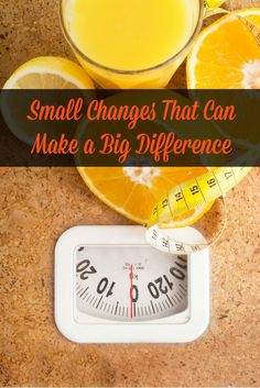Even making small changes in your diet can have dramatic results. Let's look at several small changes you can make right now that can lead to big change. #weightloss