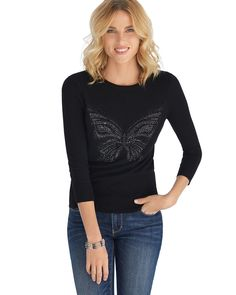 2014 Give Hope Butterfly Cashmere Sweater - White House | Black Market