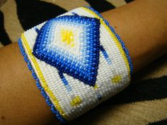 Native American Beaded Moonlight Bracelet by Oglalawin
