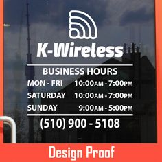 www.bestautodecals.com | 100% Custom Vinyl Lettering | Business Open Hour Sticker / Decal / Sign for Office, Shop, Salon, Store