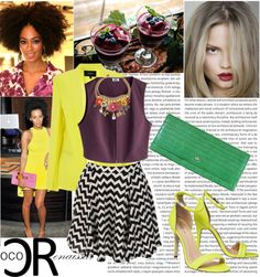 """Chevron Print Skater Skirt $24.99"" available at www.cocorenaissance.com"