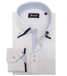 Camisas Colosseo Satén Blanco