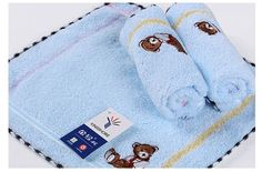 1pc blue safety Baby bibs towel untwisted yarn towel small square towel GT6307WH #Kingshore