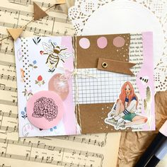 Kikki K, Budgies, Mail Art, I Shop, Envelope, Blush, Stickers, Paper, Link