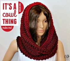 It's A Cowl Thing Free Pattern – Betty Cook - Crochet Crochet Cowel, Crochet Infinity Scarf Free Pattern, Crochet Hooded Cowl, Hooded Scarf Pattern, Basic Crochet Stitches, Crochet Scarves, Crochet Clothes, Free Crochet, Scarf Patterns