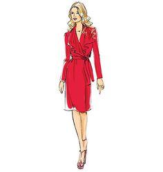 V8827   Misses' Dress And Belt   Vogue   Vogue Patterns