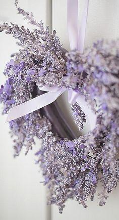 lavender wreath....