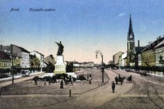Postcards of the Past - Arad, Romania Vintage Postcards, Romania, The Past, Street View, Places, Houses, Vintage Travel Postcards, Lugares