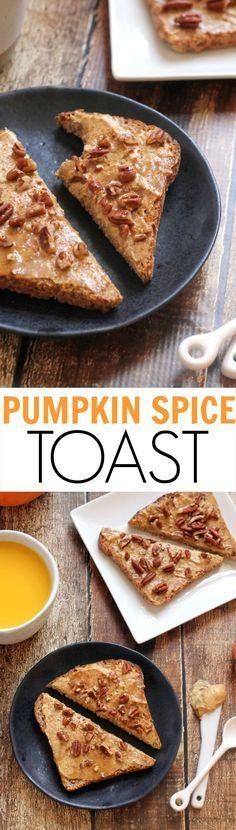 Pumpkin Spice Cashew Cream Toast...an easy, healthy, kid-friendly, and vegan breakfast in minutes!
