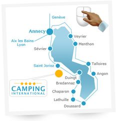 The campsite is located 400 m from the shores of Lake Annecy, 900 meters from the beach and 9 km from Annecy, facing the Tournette. Santa Cruz Camping, Lake Annecy, Camping Cornwall, Coleman Camping Stove, Camping In North Carolina, Annecy France, Camping Lights, Rhone, Campsite