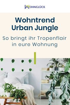 The urban jungle living trend reflects the city's longing for nature. With the right colors, plants, accessories and furniture you bring tropical flair and jungle feeling into your own four walls. Home Design, Interior Design, Decoration Bedroom, Diy Home Decor, Rap Art, Living Room Designs, Living Room Decor, Small Tropical Gardens, Tumblr Rooms
