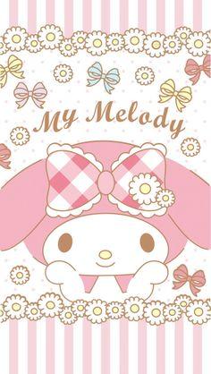 My Melody Wallpaper, Kawaii Wallpaper, Sanrio Characters, Fictional Characters, Sheep, Hello Kitty, Twins, Bunny, Drawings