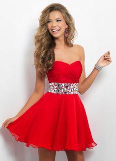 Vestido de 15 anos vermelho-curto
