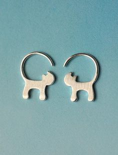 Sterling Silver Cat Tail Earrings - 60% OFF TODAY