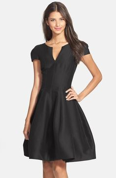 Halston Heritage Cotton & Silk Fit & Flare Dress available at #Nordstrom