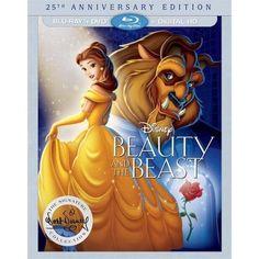 Beauty And The Beast 25th Anniversary Edition (Blu-ray + DVD + Digital HD) - Walmart.com