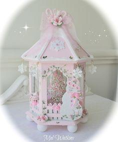 beautiful pink snowflake Christmas gazebo purchased from Ebay :)