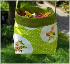 Outdoor Wäscheklammerbeutel /körbchen/tasche zum Wenden - Handmade Kultur