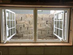 Double Casement Windows, Basement Remodeling, Basement Waterproofing, Georgian Mansion, Egress Window, Window Well, Basement Windows, Wooden Windows, Natural Stones
