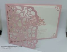 Ann's Happy Stampers: Acetate Front Card Using Detailed Floral Thinlits
