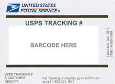 USPS Priority Mail (US only) – Tracking numbers are supplied and shipping  takes 1 – 4 business days (weekends and holidays excluded).