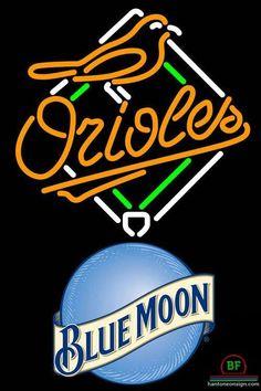 Blue Moon Baltimore Orioles Neon Sign MLB Teams Neon Light