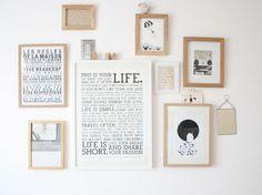 cadres mur déco bois affiche blanc