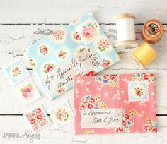 Pretty Fabric Envelopes and Fabric Giveaway