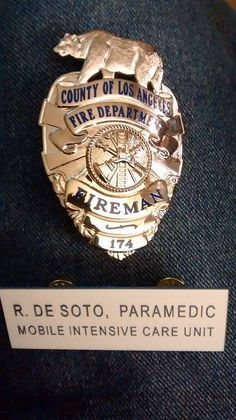 Paramedic Pin on Johnny & Roy's shirt. | Squad 51 ...