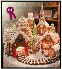 Cool Gingerbread Villa..makes me want to create a lighted Gingerbread village of my own.