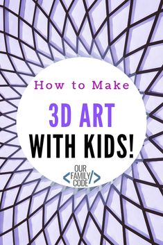 Learn To Draw Learn how to draw images and make anaglyph artwork and grab some free art worksheets! Steam Activities, Kids Learning Activities, Spring Activities, Art Activities, Teaching Kids, Toddler Crafts, Preschool Crafts, Kid Crafts, 3d Drawings