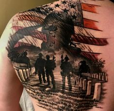 A truly to those who have given the ultimate sacrifice .You can find Military tattoos and more on our website. Army Tattoos, Military Tattoos, Badass Tattoos, Body Art Tattoos, Tattoos For Guys, Warrior Tattoos, 3d Tattoos, Tattoo Ink, Tattoo Trash