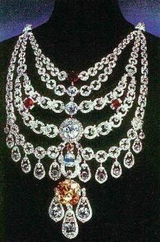 The Patiala Necklace - 1928 - by Cartier Paris - De Beers Diamond - Made for Bhupinder Singh, Maharaja of Patiala #Luxury #crown #jewels   Elegance is Classy   @nyrockphotogirl