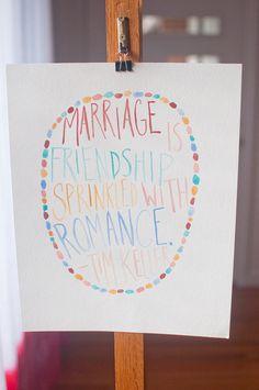 Marriage is Friendship -Tim Keller $20.00, via Etsy.