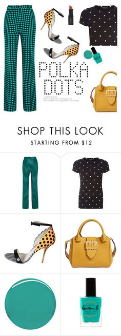"""So Dotty: Polka Dots"" by veronicawantscurves ❤ liked on Polyvore featuring Bottega Veneta, Dorothy Perkins, Sophia Webster, Burberry, Lauren B. Beauty and Smashbox"