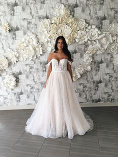 Attention! This lovely gown is now back in stock! The perfect combination of romantic and sexy. Wedding Dress Boutiques, Wedding Dresses, Bridal Stores, Gowns Of Elegance, Boutique Dresses, Calgary, Ball Gowns, Romantic, Bride