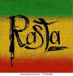 """Rasta"" Unique Grungy Hand Written Lettering on Textured Background of Rasta Flag Colors. Rasta Pictures, Black Art Pictures, Reggae Art, Reggae Music, African Tribal Patterns, Rasta Girl, Bob Marley Art, Love Wood Sign, Jah Rastafari"
