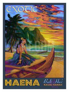 Hawaii, Bali Hai Exotic Haena Giclee Print by Rick Sharp at Art.com