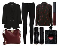 """""""street style"""" by sisaez ❤ liked on Polyvore featuring Yves Saint Laurent, Oasis, Helmut Lang, Valentino, Isabel Marant and NARS Cosmetics"""