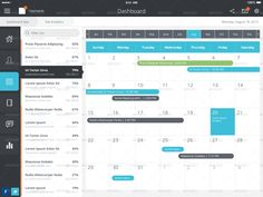 iOS 7 – iPad Tablet App & Dashboard as a fully designed ipad dashboard, task app, calendar app, contacts app, or as a design bootstrap for your next ipad project. iOS 7 – iPad Tablet App & Dashboar...