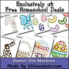 Easter Dot Marker Pages (free)