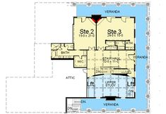 Plan Southern Beauty with Dual-level Wraparound Balconies Beach House Floor Plans, 3/4 Beds, Southern House Plans, Second Story, Wrap Around, Sitting Area, Balconies, Master Suite, Beautiful Homes