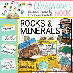 Getting Ready to Teach Rocks and Minerals - The Classroom Nook Small Group Activities, Hands On Activities, Study Jams, Rock Cycle, Science Topics, Independent Reading, Images And Words, Elementary Teacher, Google Classroom