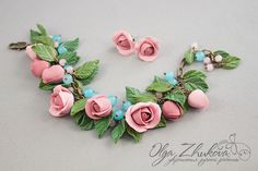 bracelet_with_roses_from_polymer_clay_by_polyflowers-d72k80o.jpg (1024×683)