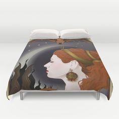 Artemisa goddess art nouveau style Duvet Cover