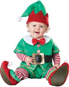 4419f735b Christmas Baby Unisex Holiday Outfits, Elf. Snowman, Reindeer, & Santa